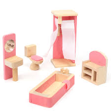 cheap wooden dollhouse furniture. Wooden Delicate Dollhouse Furniture Toys Miniature For Kids Children Pretend Play 6 Room Set/4 Dolls Toys-in From \u0026 Hobbies On Cheap U