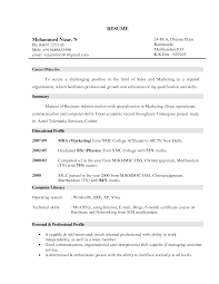 Marketing Resume Objective Berathen Com