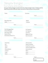 Family Budget Templates Excel Best Family Budget Spreadsheet Simple Household Templates Template
