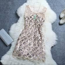Stylish Atmosphere Beaded Sequined Mini Dress Ayd