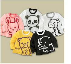How To Draw Girl Shirts Free Shipping Children Clothing Girls Boys Baby Draw Tee Long Sleeve