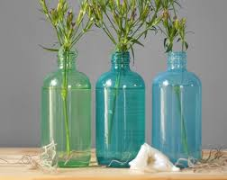 Decorative Colored Glass Bottles Etsy Your place to buy and sell all things handmade 7