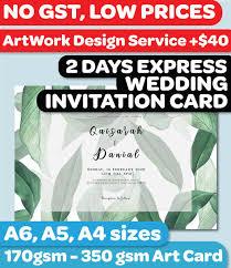 9 8pm No Gst Budget Wedding Invitation Card Printing In Singapore