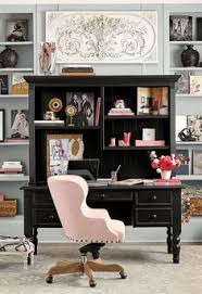 colorful feminine office furniture. Delighful Furniture A Blush Pink Desk Chair And Accessories Add A Feminine Touch To Black  Secretary To Colorful Feminine Office Furniture