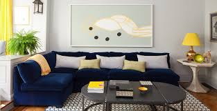 Living Room Blue Sofa In Plain On Fine With Home