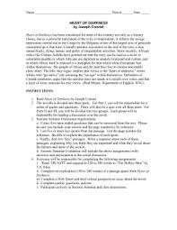 heart of darkness essay topics doc heart of darkness assignment 2010