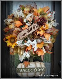 Fall Wreath Fall Wreaths Under A Texas Sky