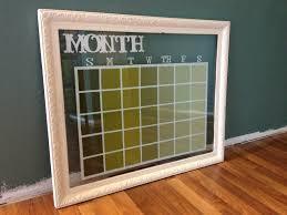 Framed Dry Erase Board Glass Dry Erase Calendar Frame Pinteres