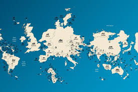 Map of domain names flips the world on its head | WIRED UK