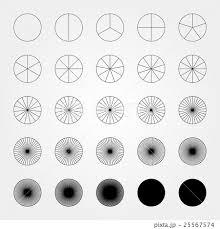 360度分割のイラスト素材 Pixta