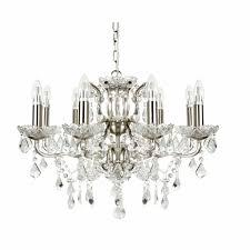 Klassische Pendelleuchte In Silber ø70cm Messinglampe