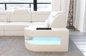 Modern leather sectional sofas Modern Luxury Modern Sectional Sofa Denver Lshape With Led White Sofadreams Leather Couch Denver Shape