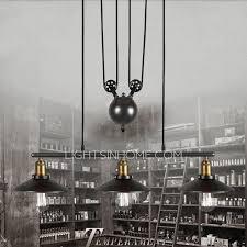 primitive 3 light hanging pulley pendant lights