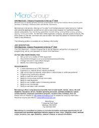 Machinist Resume Cnc Machinist Resume Free Templates Resumes Samples Getessay Sevte 10