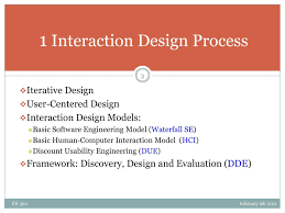 Interaction Design Process In Hci Ppt Cs 320 Interaction Design Powerpoint Presentation