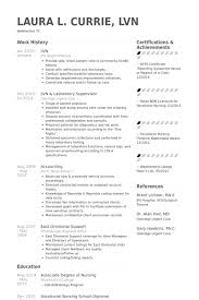 Lvn Resume samples