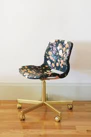 diy fabric decoupaged office chair
