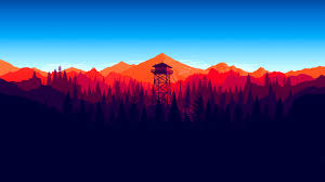 firewatch forest mountains minimalism 4k 1537690821 firewatch forest mountains minimalism 4k ps games wallpapers