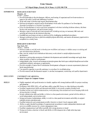 Research Resume Samples Research Scientist Resumes Magdalene Project Org