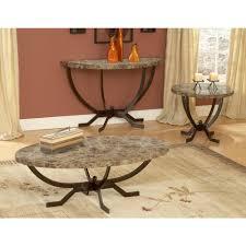 hilale furniture monaco matte espresso marble top coffee table