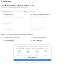 quiz worksheet character motivation com print character motivation definition examples worksheet