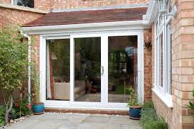 patio door sliding door in white upvc