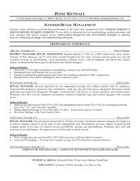 Retail Manager Resume Template Interesting Retail Management Resume Template Sample Resume Cover Store Manager