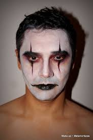 the crow inspired makeup clown face paint creepy