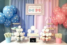 Gender Reveal Table Ideas Little Man Or Lady Gender Reveal Party