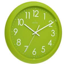 wall clock lime green