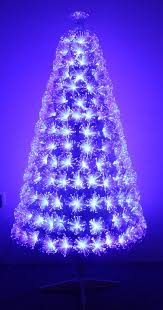 The White Blue Ripple Effect Fibre Optic Tree (4ft to 6ft)