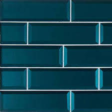 verde azul beveled 2 5 in x 9 in x 8mm glass wall tile