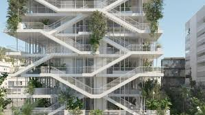 office space architecture. Nicolas Laisné Associés, Lyon, France, French Architecture, Bio-climatic Work Environment. \u201cThis New Office Building Space Architecture O