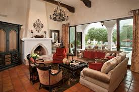 phoenix mexican fireplace living room terranean with stucco midcentury modern outdoor pendant lights unique
