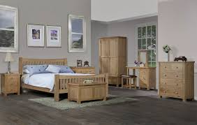 Light Oak Bedroom Furniture Grasmere Light Oak 4ft6 Double Bed Oak Furniture Uk