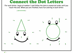(the color and style of these dots vary among different versions of. Dot To Dots Worksheets Free Printables Education Com