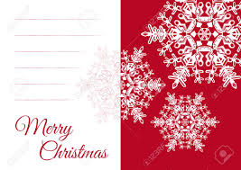 Blank Snowflake Template Christmas Vector Greeting Card Template With Blank Text Field