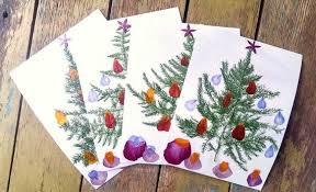 ... pressed flowers christmas card. Christmas Cards DIY