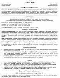 Retail Resume Sales Associate Examples Retail Resume Example And