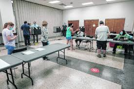 Turnout light but steady for early voting
