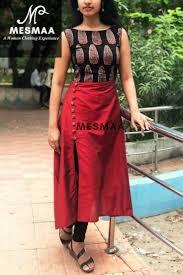 Kalamkari Churidar Neck Designs For Stitching Pin By Ruchira Khatua On Stitching Kalamkari Dresses
