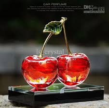 How To Decorate Perfume Bottles 100 100ml Cherry Design Crystal Car Perfume Bottle Glass Scent 58