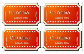 Movie Ticket Template Word Editable Ms Word Doc File