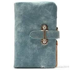 latest deer women leather wallet vintagetri folds luxury cash purse girl small black clutch coin purses holders cute wallets lost wallet from