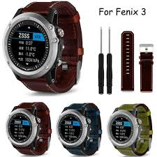 details about for garmin fenix 3 luxury leather band strap replacement watch band with tools