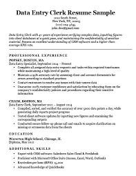 Data Entry Resume Awesome Data Entry Clerk Resume Sample Resume Companion