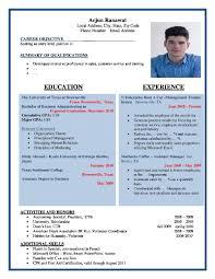 Cover Letter Resume Latest Format Latest Resume Format 2016