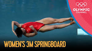 At the beijing olympics in 2008, the most complex dive had a degree of difficulty rated at 3.8; Women S 3m Springboard Diving Final Rio 2016 Replay Youtube