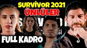 Survivor 2021 Ünlüler Kadrosu Belli Oldu Survivor Ünlüler Kimler - YouTube