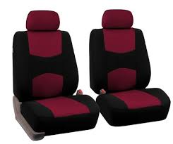 car truck seat covers red black